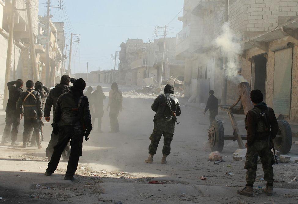 Al-Nosra, dans le village d'Alep en Syrie