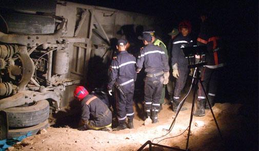 Un autocar renversée fait 18 morts au Maroc