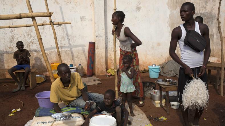 Le camps de déplacé dans l'aéroport international à Bangui