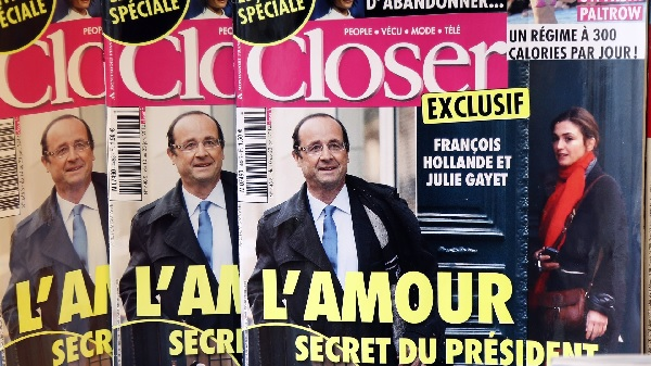François Hollande dans le magazine Closer, et Julie Gayet