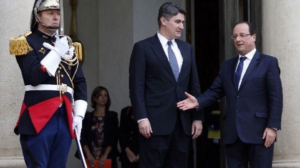 Milanovic et Hollande à l'Elysée
