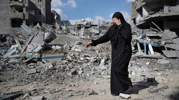 Des bâtiments détruits par le Tsahal d'Israël à Gaza