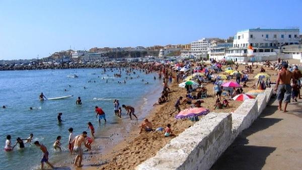 Les plages d'Alger en été 2015
