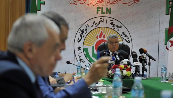 Amar Saadani lors du 10e congrès du FLN à Alger